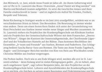 90. Geburtstag von Anne Frank